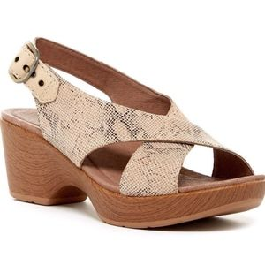 NEW 10 / 40 Dansko Jacinda Snakeskin Leather Heel
